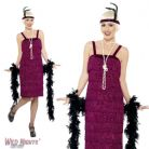 FANCY DRESS COSTUME # LADIES 1920s CHARLESTON RED JAZZ FLAPPER DRESS SMALL 8-10